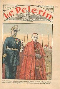 """Cardinal Verdier Légat Pontifial Général Henry Gouraud Tirailleurs Algérie 1936 - France - Commentaires du vendeur : """"OCCASION ATTENTION,QUE LA COUVERTURE, PAS LE JOURNAL ENTIER. Just the cover, not newspaper."""" - France"""