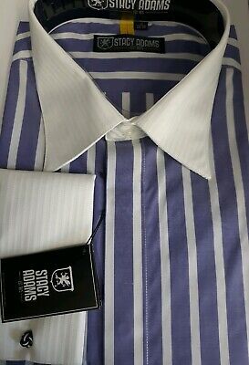 Big And Tall French Cuff Dress Shirts (STACY ADAMS AMETHYST  Men's Big-Tall FRENCH CUFF Dress Shirt SIZE 19  38/39  )
