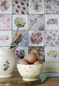 vintage floral ceramic wall tiles 1 tile
