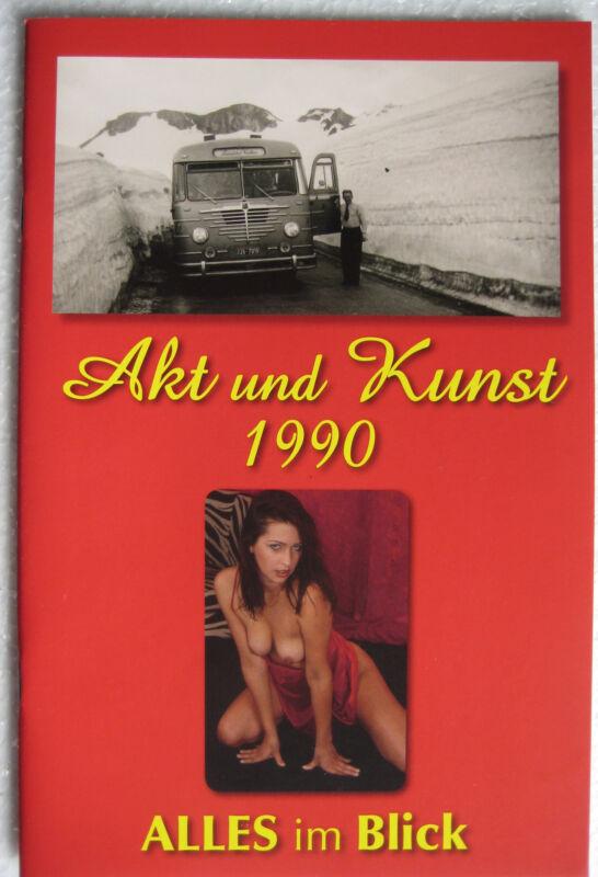 Magazin Akt Fotografie Foto Busen FKK Männermagazin Akt & Kunst 1990 TOP Zustand