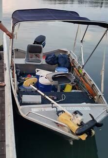aluminium punt boat STACER 395 Prolite