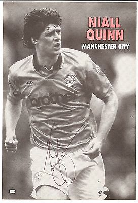 Niall Quinn, Manchester City Man City signed autographed football book picture.