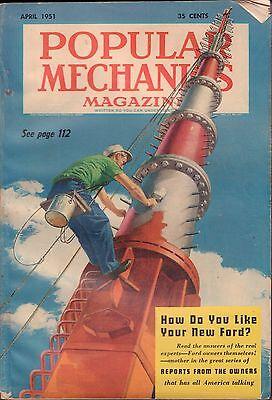 Popular Mechanics April 1951 Tvs Steeplejacks Vg 061016Dbe