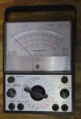 Micronta Fet-vom Analog Voltmeter 22-206 W Batteries - 5 Meter - Vintage 1975