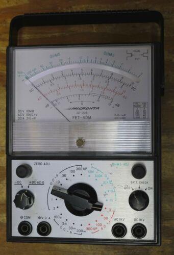"""Micronta FET-VOM Analog Voltmeter 22-206 w/ batteries - 5"""" meter - Vintage ~1975"""