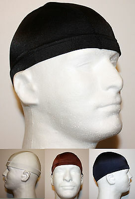 COOL FITTED SPANDEX SPORTS CAP - UNDER HELMET BICYCLE MOTORCYCLE FOOTBALL ATV T2