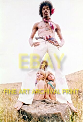 Unpublished JIMI HENDRIX Photo FINE ART ARCHIVAL Print MAUI Oct 1968 - 8.5x11