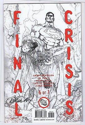 FINAL CRISIS 6 OF 7 9.2 2ND PRINT VARAINT SKETCH SIGNATURE ON FRONT COVER CC ()