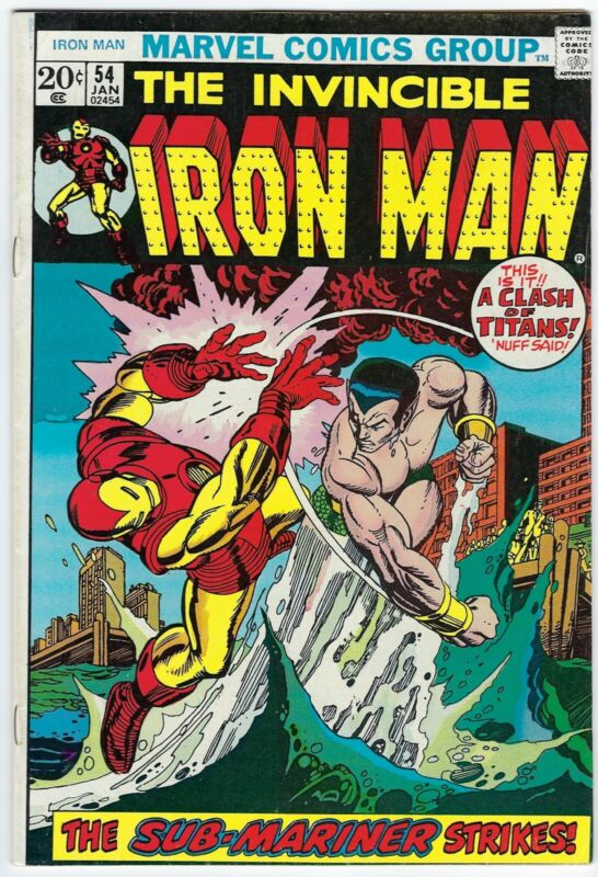The Invincible Iron Man #54 (January 1973, Marvel), 7.0 FN/VF, Sub-Mariner