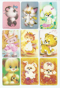 #600.009 Blank Back Swap Cards -MINT- Lot of 9 - Animals & Critters