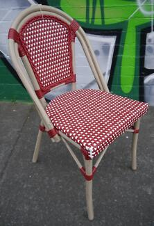 New Cafe Restaurant Bar Outdoor Furniture Red Paris Chairs