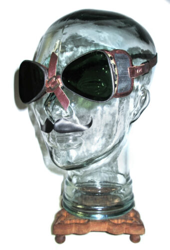 Antique WWII CPC Goggles Safety Glasses Vtg Old Steampunk Dieselpunk Mad Max