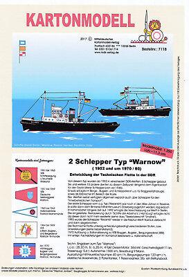 MDK-Verlag 7119 - Modellbogen - Schlepper Recknitz  - 1:120