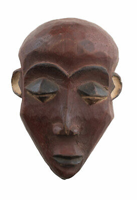 Masquette Yombe Mask African Congo Pasport DRC Wood 15 cm Art First 16924