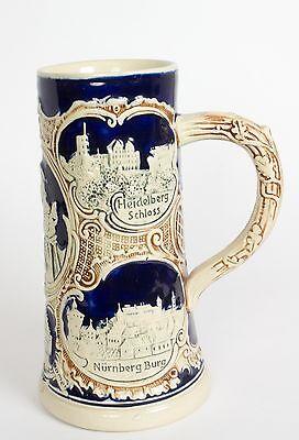 Souvenir Stein - Beer Ale Stein Mug Germany Vintage Heidlberg Schloss - Travel Souvenir Stein