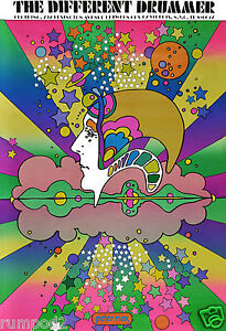 Movie-Poster-Vintage-Poster-The-Different-Drummer-1968-Peter-Max-Reproduction