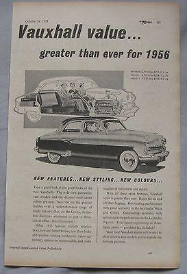 1955 Vauxhall Original advert No.2