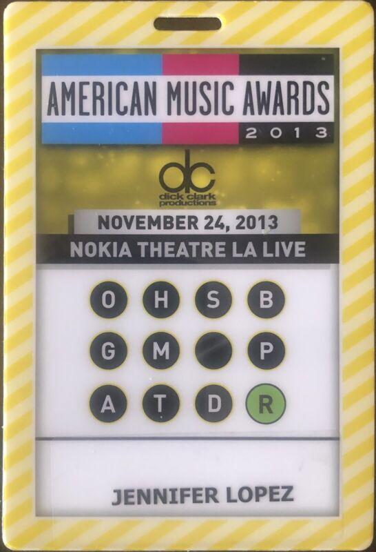 American Music Awards AMA 2013 Backstage Pass Jennifer Lopez