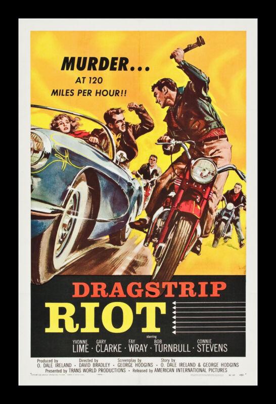 DRAGSTRIP RIOT * CineMasterpieces 1SH MOVIE POSTER 1958 CAR AUTO RACING MAN CAVE