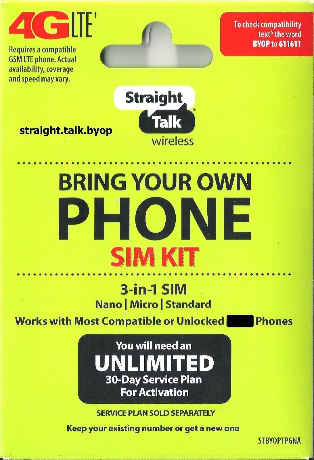 Straight Talk SIM Card  AT&T, Verizon, T-Mobile  Activation