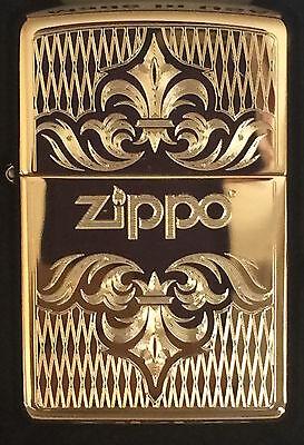 Zippo Windproof Brass Lighter With Regal Design & Zippo Logo