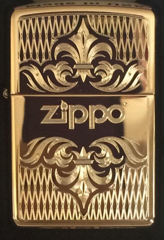 Zippo Windproof Brass Lighter With Regal Design & Zippo Logo, 51155, New In Box
