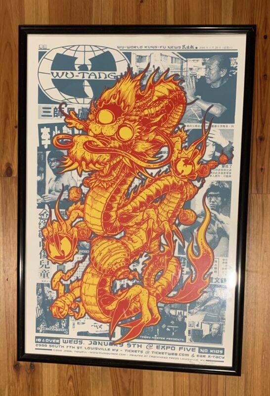 Wu Tang Clan Jeral Tidwell 2011 Louisville Silkscreen Poster 24x36 Bruce Lee