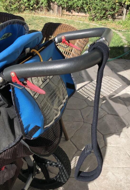 Travel Buggy Pram Stroller Buggy Jogger - Safety Belt Wrist Strap Black - Velcro