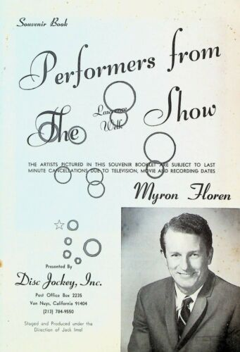 Performers from the Lawrence Welk Show Souvenir Book 1970s Myron Floren