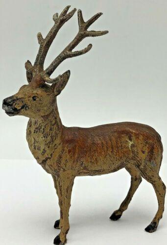 Vintage Putz Lead Metal Reindeer Deer Stag Figurine Antique Germany Christmas