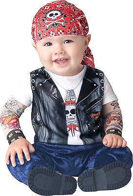 Infant Toddler Baby Born To Be Wild Biker Costume