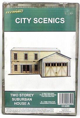 TTCombat DCS086 Two Storey Suburban House A (City Scenics) Terrain Building NIB