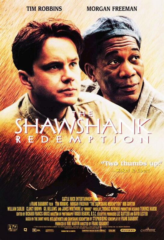 THE SHAWSHANK REDEMPTION (1994) ORIGINAL VIDEO MOVIE POSTER  -  ROLLED