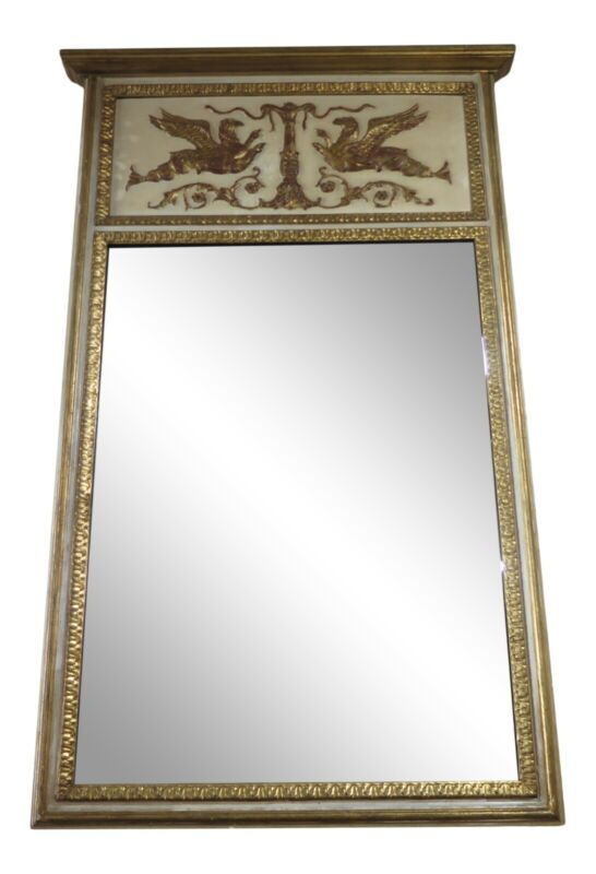 LF41751EC: Large French Style Trumeau Mirror