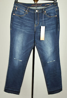 Jag Jeans Womens Blue Sleet Knee Released Hem Mid Rise Slim Ankle Jeans 16