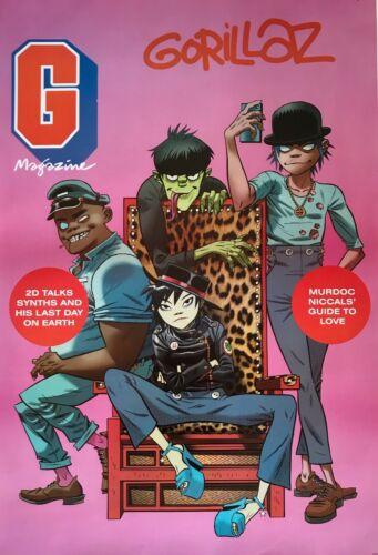 "GORILLAZ ""GROUP POSING ON COVER OF G MAGAZINE"" POSTER FROM ASIA - Damon Albarn"