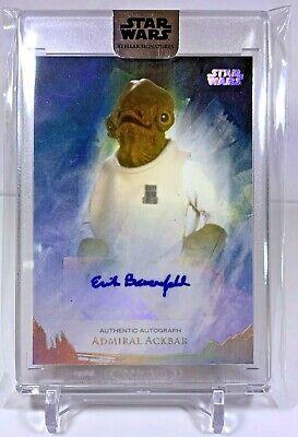 "2018 Star Wars Stellar ""Erik Bauersfeld as Admiral Ackbar"" Autograph Card 34/37"