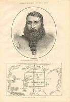 1880 Antique Print-afghan War-abdurrahman,ameer Of Cabul, Plan Of City Of Candah -  - ebay.co.uk