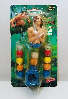 Vintage 1998 Flix Disney's TARZAN Bubble Gum Container fleer candy