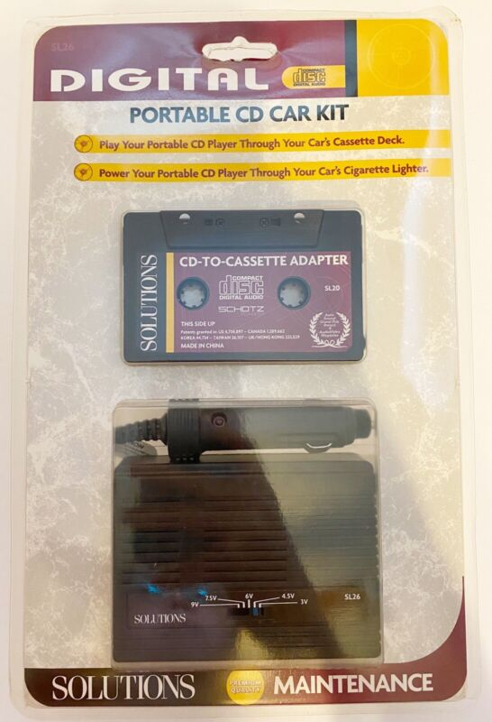 Digital Portable Car Kit Cd To Cassette Adapter NEW Compact Disc Digital Audio