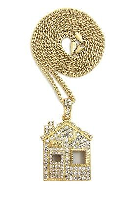 Iced Offset Trap House Pendant & 24