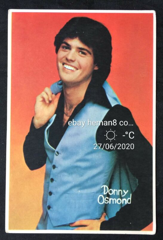 Vintage Donny Osmond American singer Thailand postcard Asia