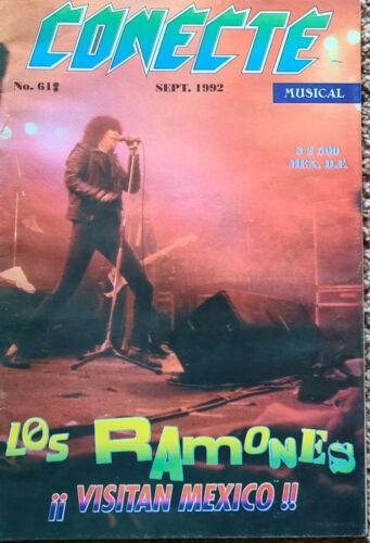 Conecte Magazine Sept 1992 Ramones cover  RARE