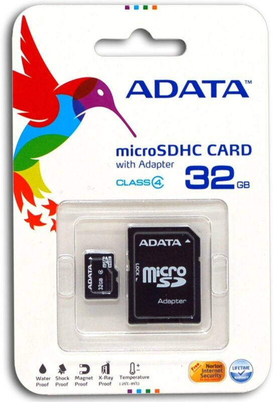 32GB MicroSD Micro SD Card TF Flash Memory Card 32 GB G 32G New ADATA Class 4
