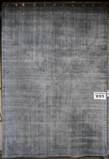 New Dotts Savana Charcoal Wool Viscose Blend Plain Rugs