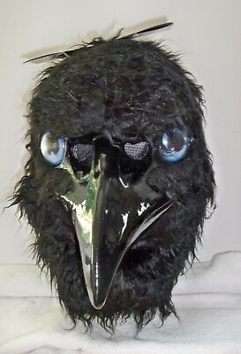 ADULT ANIMATED CRYING RAVEN BIRD COSTUME MASK WITH OPENING BEAK MR039167