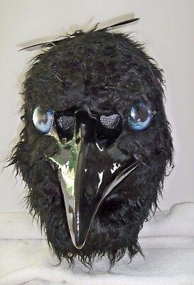ADULT ANIMATED CRYING RAVEN BIRD COSTUME MASK WITH OPENING BEAK MR039167