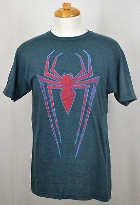 Spider-Man Red Spider T-Shirt Marvel Superhero Graphic Tee Blue NWT