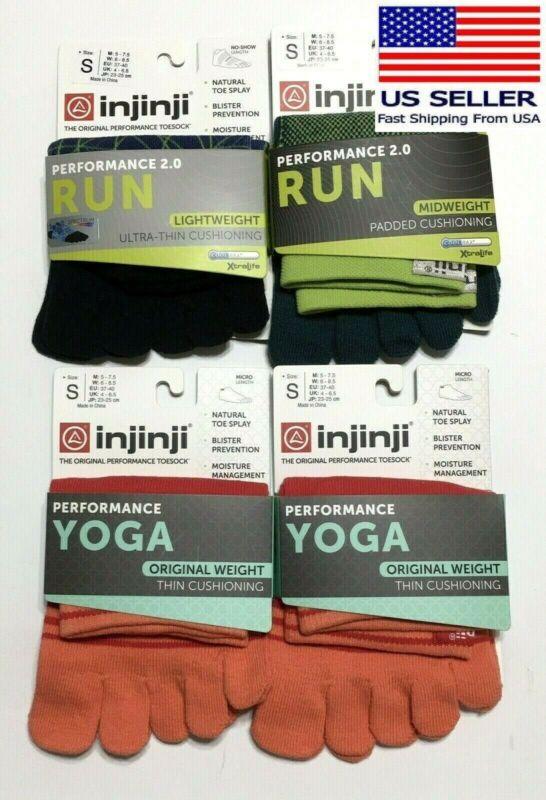 "4 Pairs injinji the Original Performance Unisex Toesocks ""Toe Socks"" Size Small"