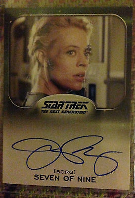 Star Trek Aliens Autograph Card Jeri Ryan as Seven of Nine